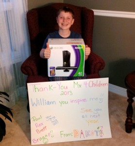 Dakota Yaskow, 3rd place winner, donated his Xbox 360 to a less fortunate family