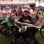 2014 Jackpot Challenge Winner Dakota Yaskow with Chad Reed